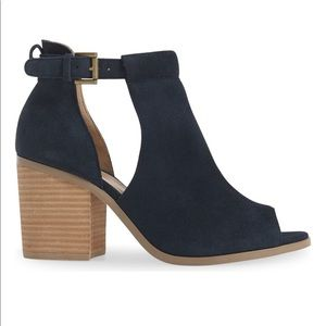 Sole Society Shoes - Sole Society Black 'Ferris' Open Toe Bootie 7.5